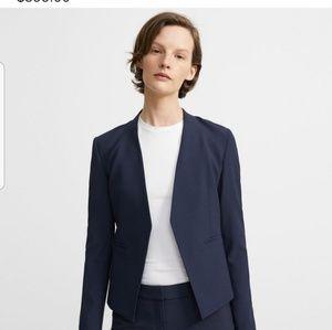 Theory Stretch Wool Open Blazer